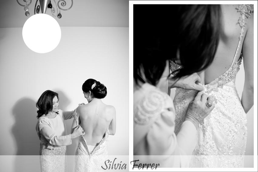 Vestido de novia con escote en la espalda en Murcia