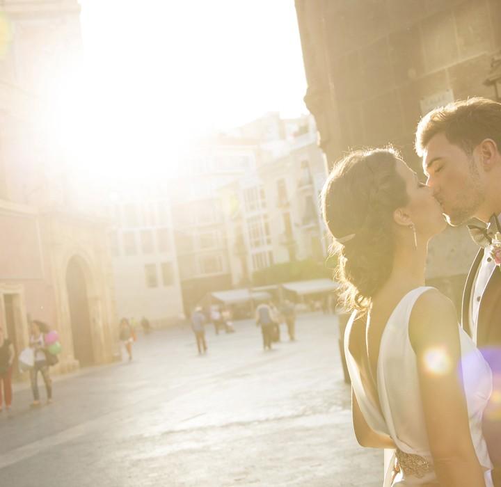 Fotos de boda en Murcia centro + La Casa del Alambre + Javier y María.