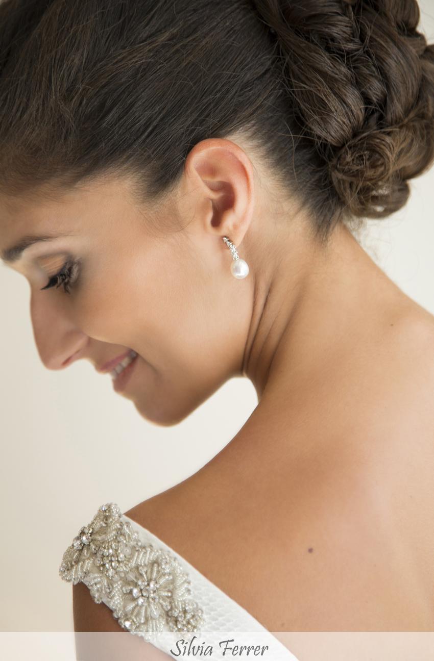 hombros joya en vestido de novia
