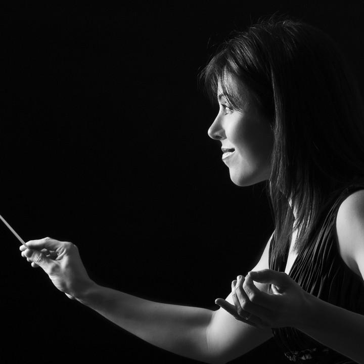 Directora de la Orquesta Sinfónica de Murcia + Virginia Martínez + Silvia Ferrer.