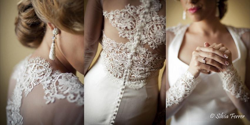 vestido de novia con espalda decrorada