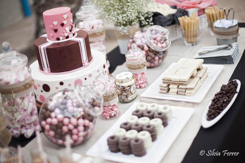 Candy Bar en rosa y marrón