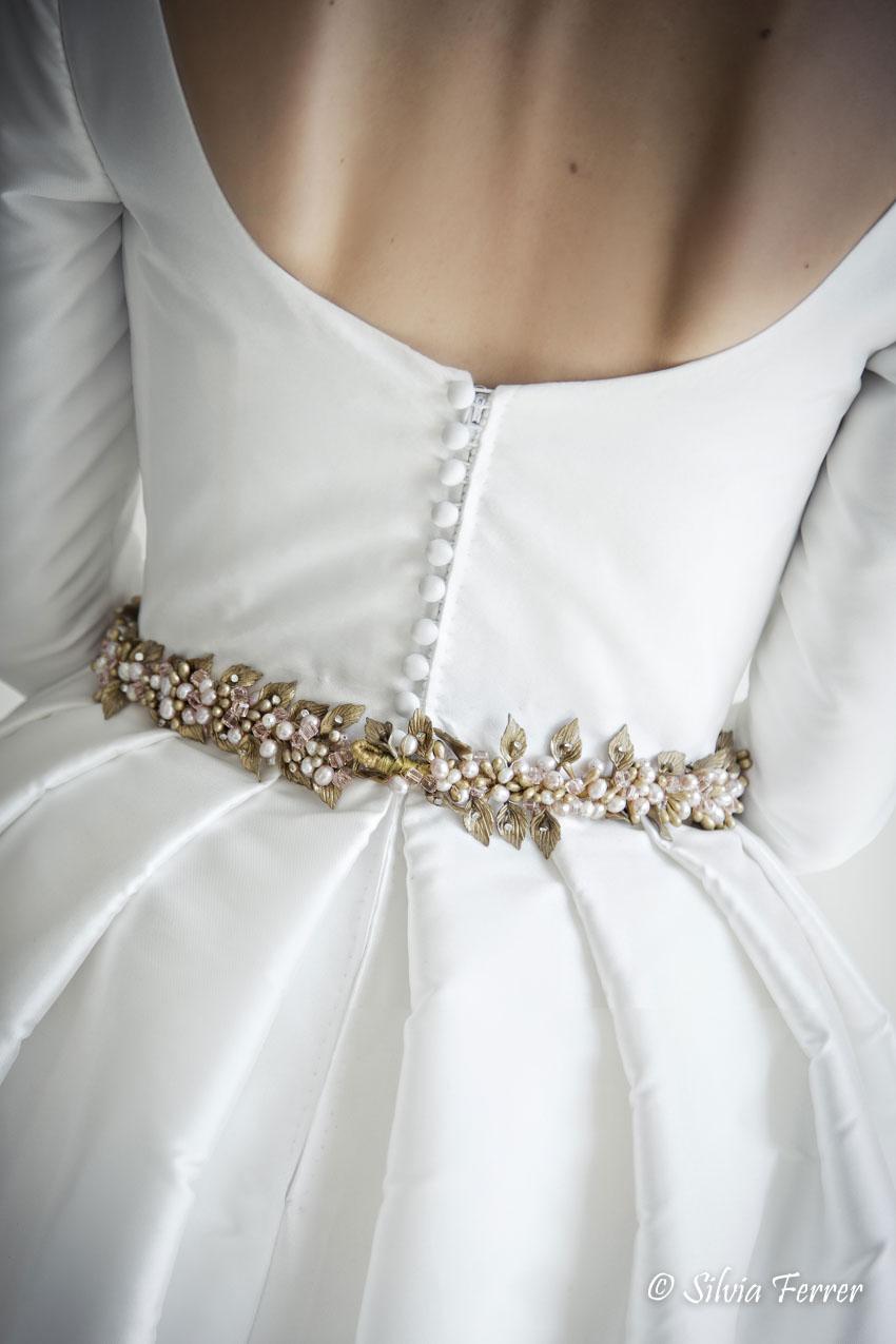 Vestido de novia de Rubén Hernández Murcia espalda de vestido de novia clásico