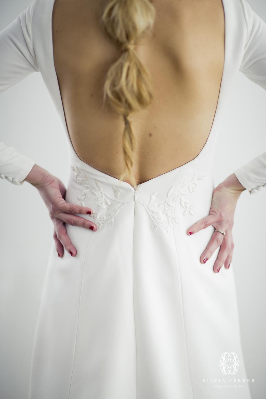 escote en la espalda vestido de novia