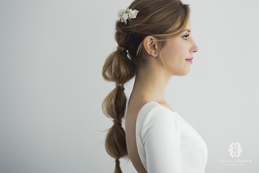 peinado de novia con morcillas