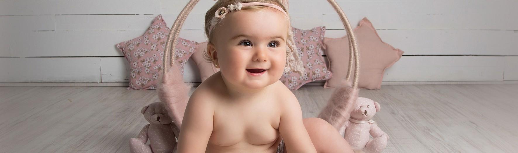 Fotos de bebés en Murcia + Carla y Lola + Fotografías de 2 hermanas + Silvia Ferrer.