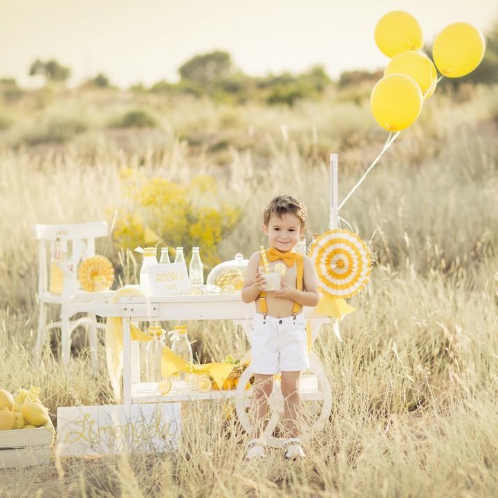 Sesión en exteriores + Carrito de limonada + Lemonade session + Fotografía infantil + Murcia.