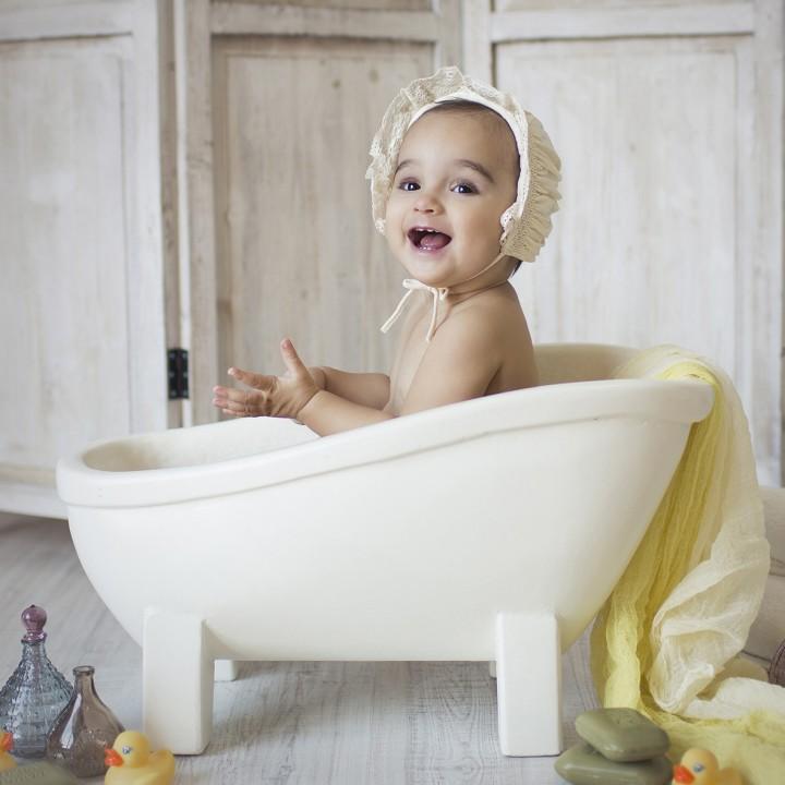 Fotos de estudio para bebés + 1 año + Alejandra + Silvia Ferrer.