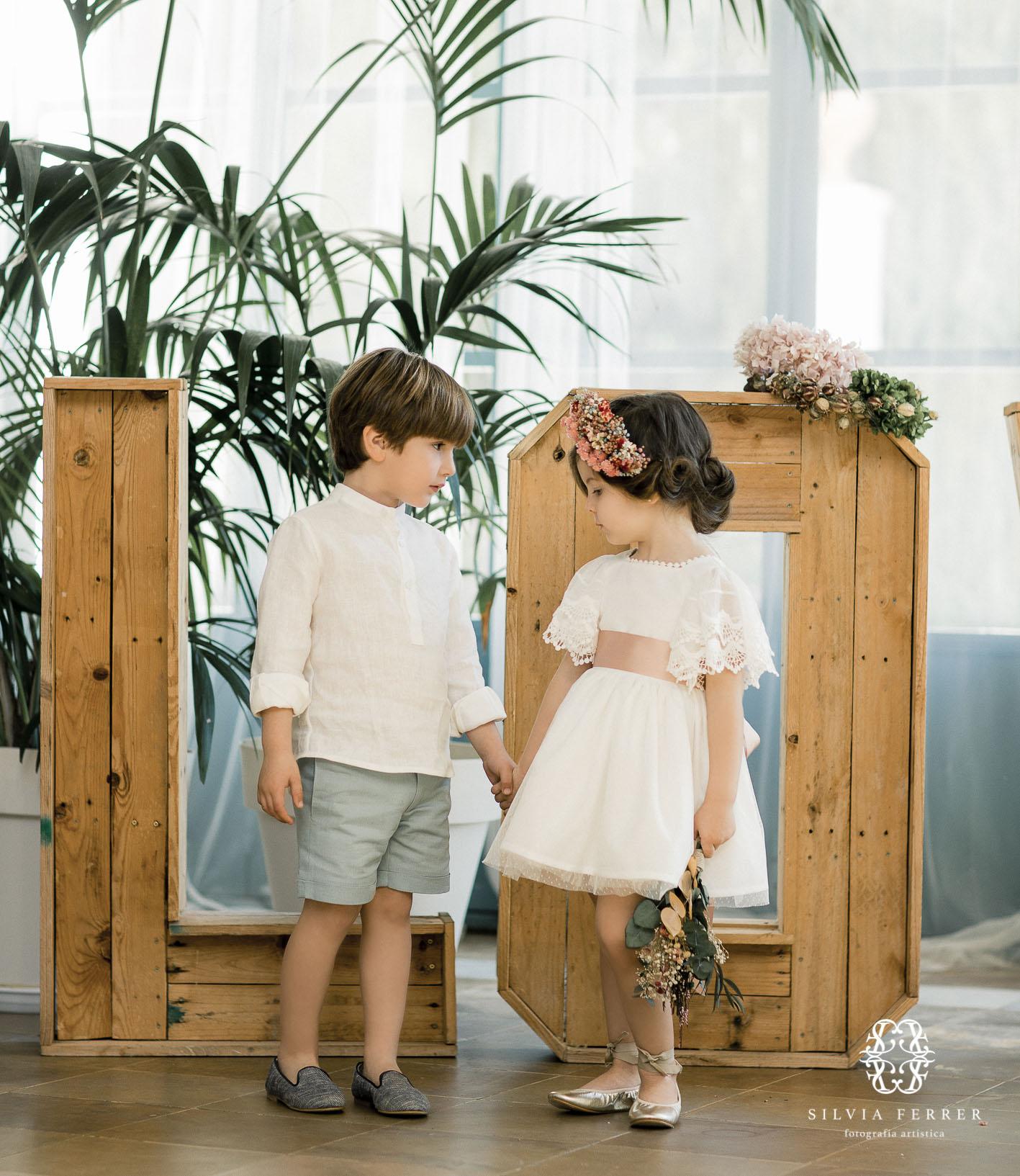 niños de ceremonia