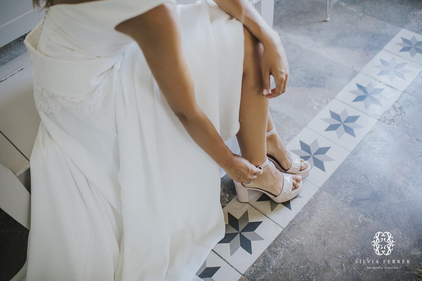 zapatos de novia en rosa