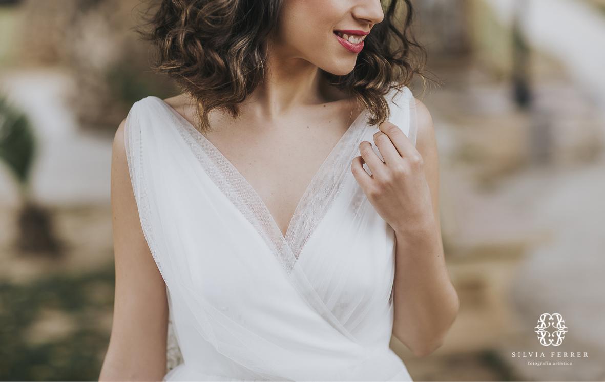 vestido de novia con capa invierno boda bouret portocale murcia
