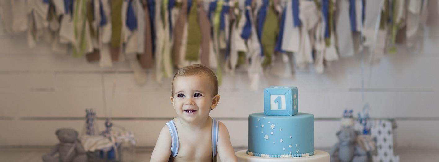 Sesión del añito + Smash cake + Adrián + Fotografía infantil en Murcia + Silvia Ferrer.