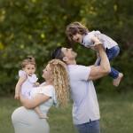 fotos de embarazada con familia numerosa