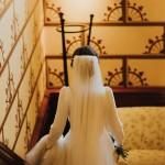 vestido de manda larga boda de invierno