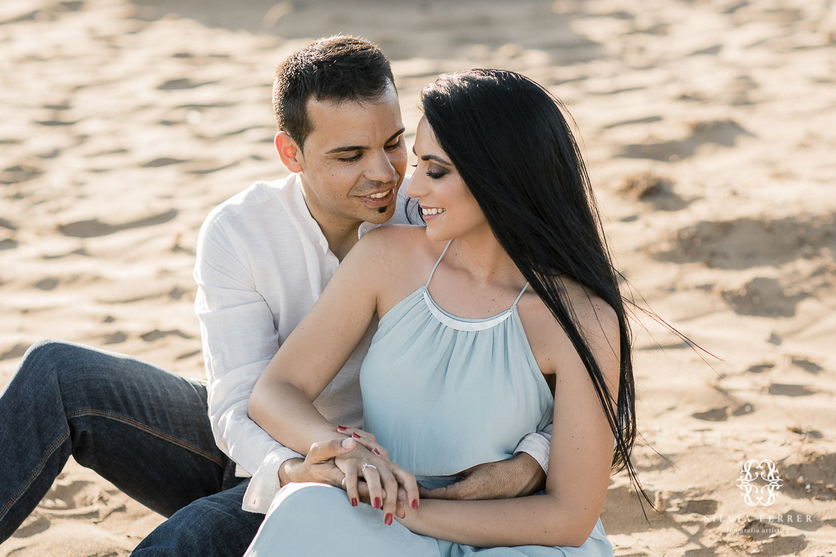 Preboda en Calblanque fotos novios pareja