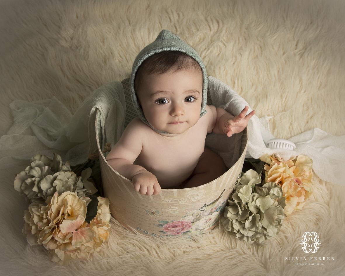 fotos bebes murcia silvia ferrer infantil estudio 6 meses