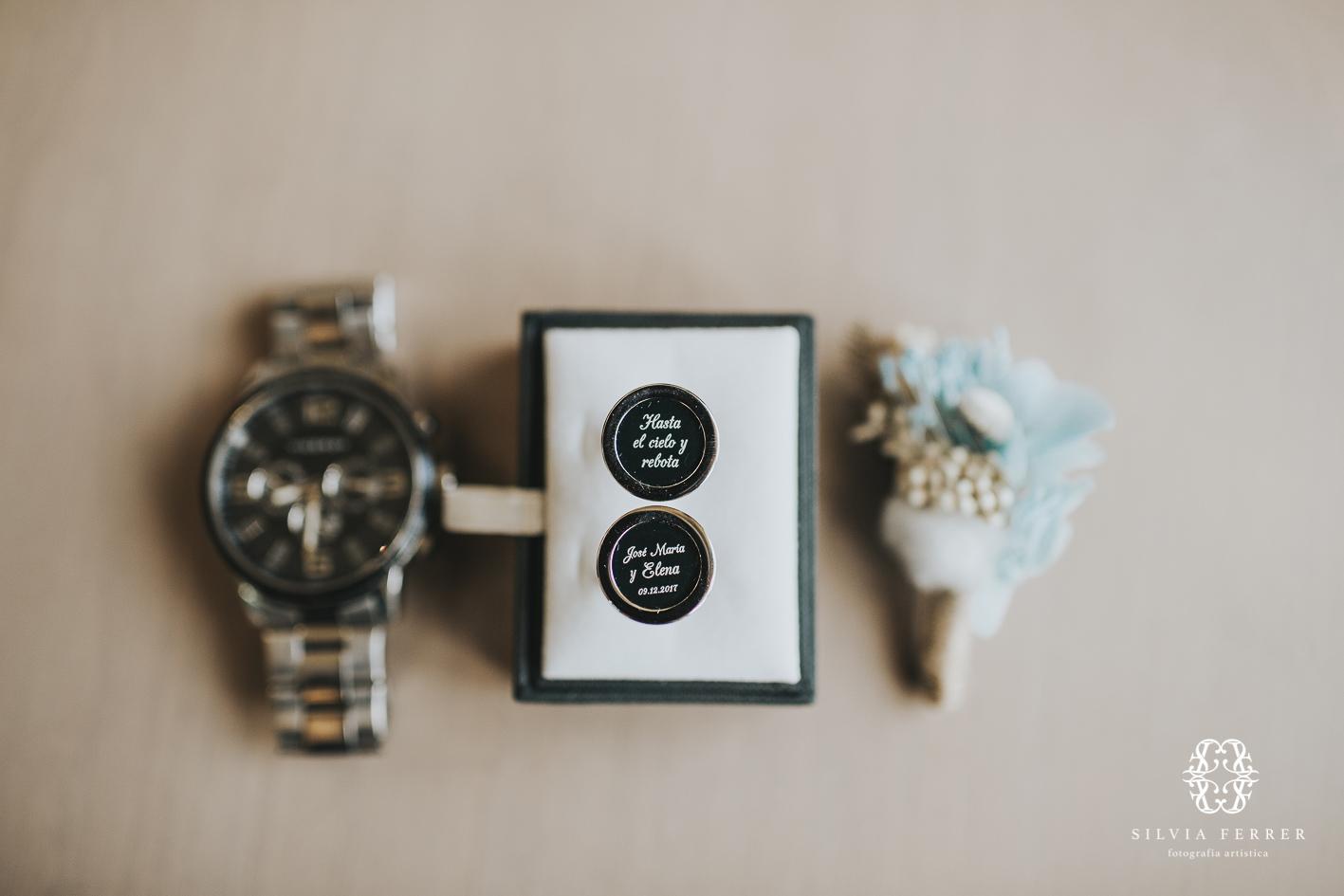 Gemelos personalizados para boda