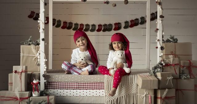 Sesión de fotos de navidad en Murcia + Fotografía infantil + Pablo y Olivia + Silvia Ferrer.