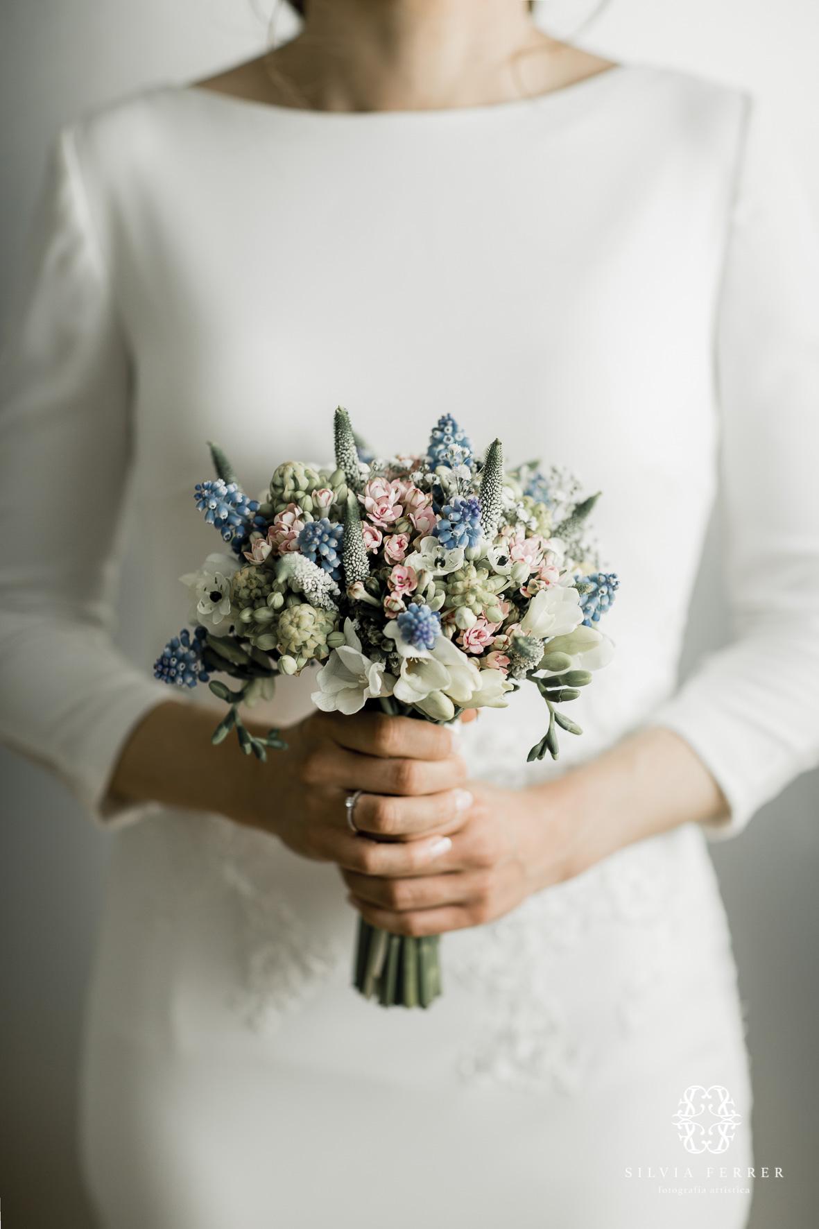 ramo de novia en tonos pastel