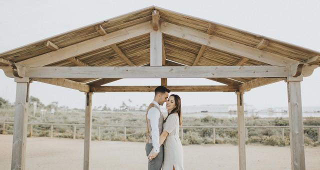 Fotos preboda en las Salinas de San Pedro del Pinatar + Vanessa y Julio + Silvia Ferrer.