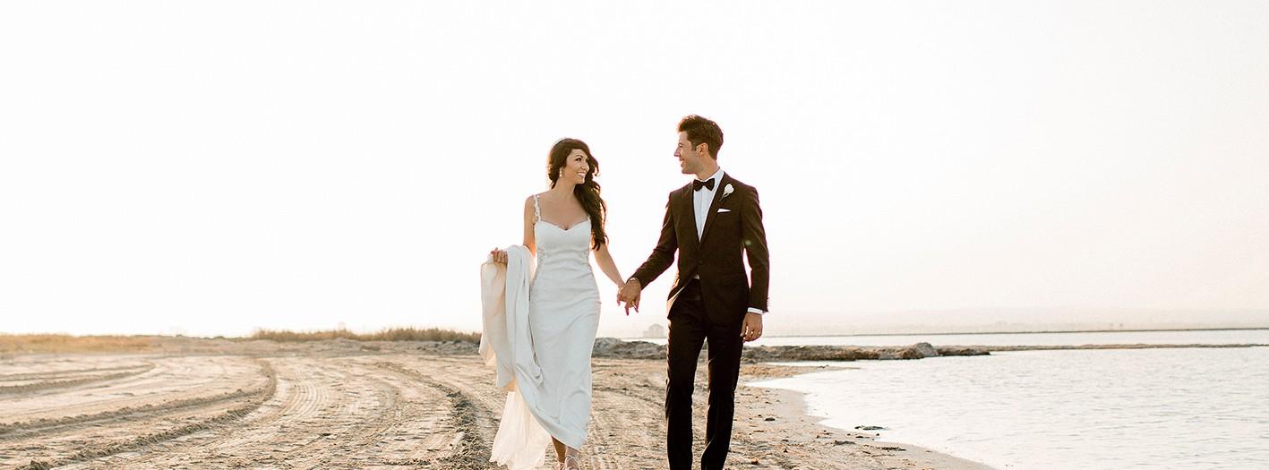 Boda en la playa + Collados Beach + La Manga + Fotógrafos de boda en Murcia + Marina y Roberto.