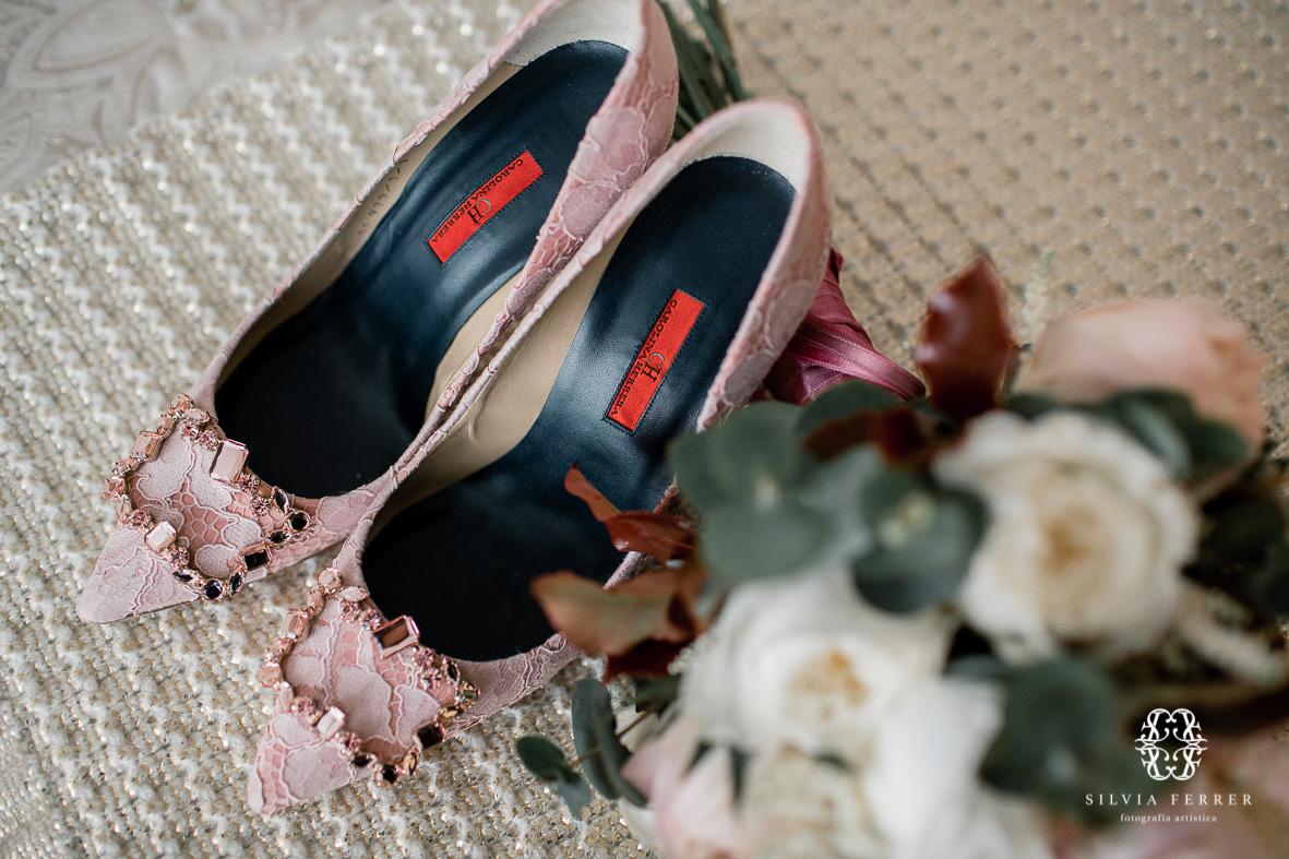 zapatos rosas de novia carolina herrera