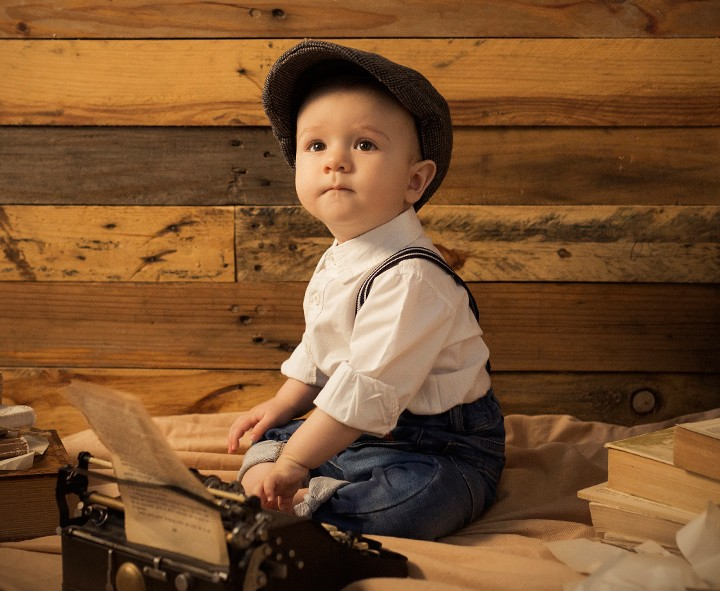 Bebé de 8 meses + Sesión de fotografía infantil en Murcia + Diego.