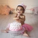 smash cake tarta rosa