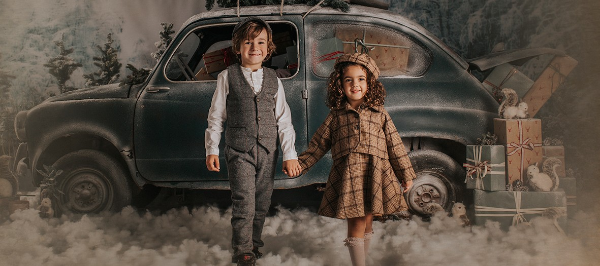 Fotos navideñas + Navidad 2019 + Decorados + Silvia Ferrer + Fotógrafos Murcia.