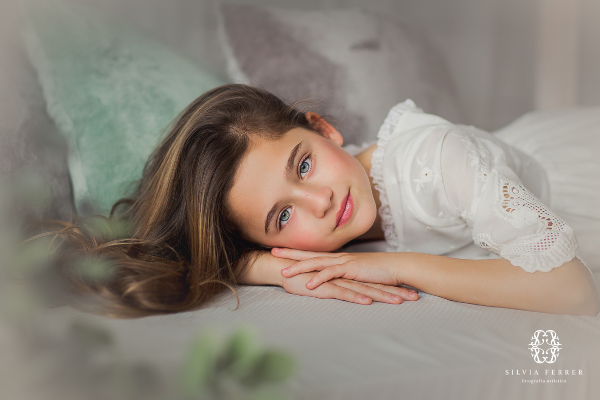 fotos bonitas de comunion en estudio murcia niña bemini