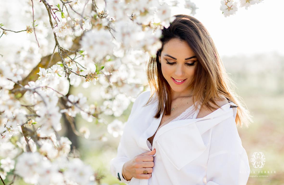 sesion de fotos floracion cieza una familia a la moda almendros