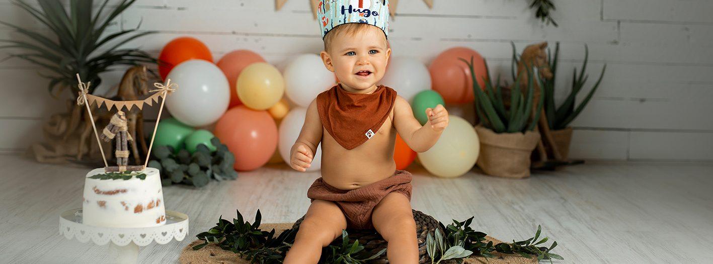 Hugo + Sesión primer cumpleaños + Smash cake.