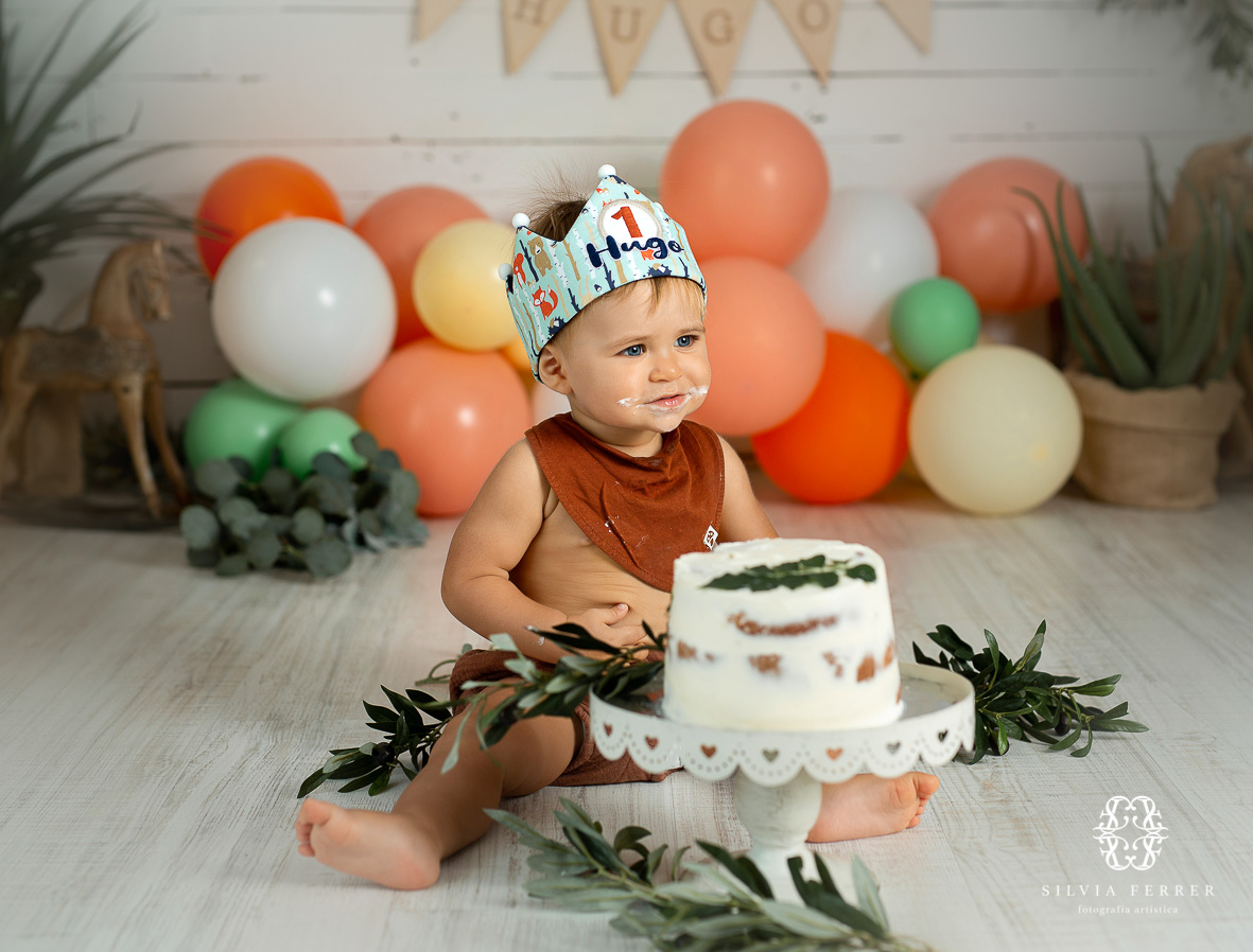 fotos primer cumpleaños tarta smash cake estudio silvia ferrer murcia