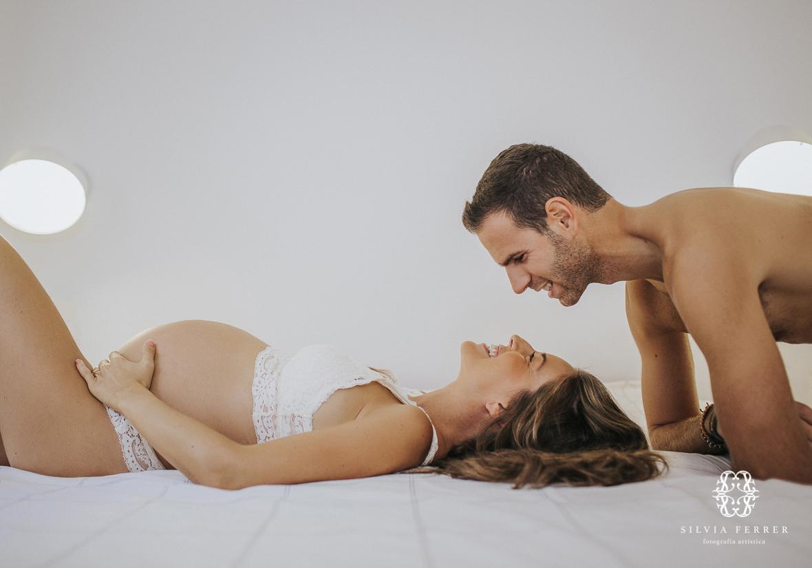 sesion embarazo natural en casa