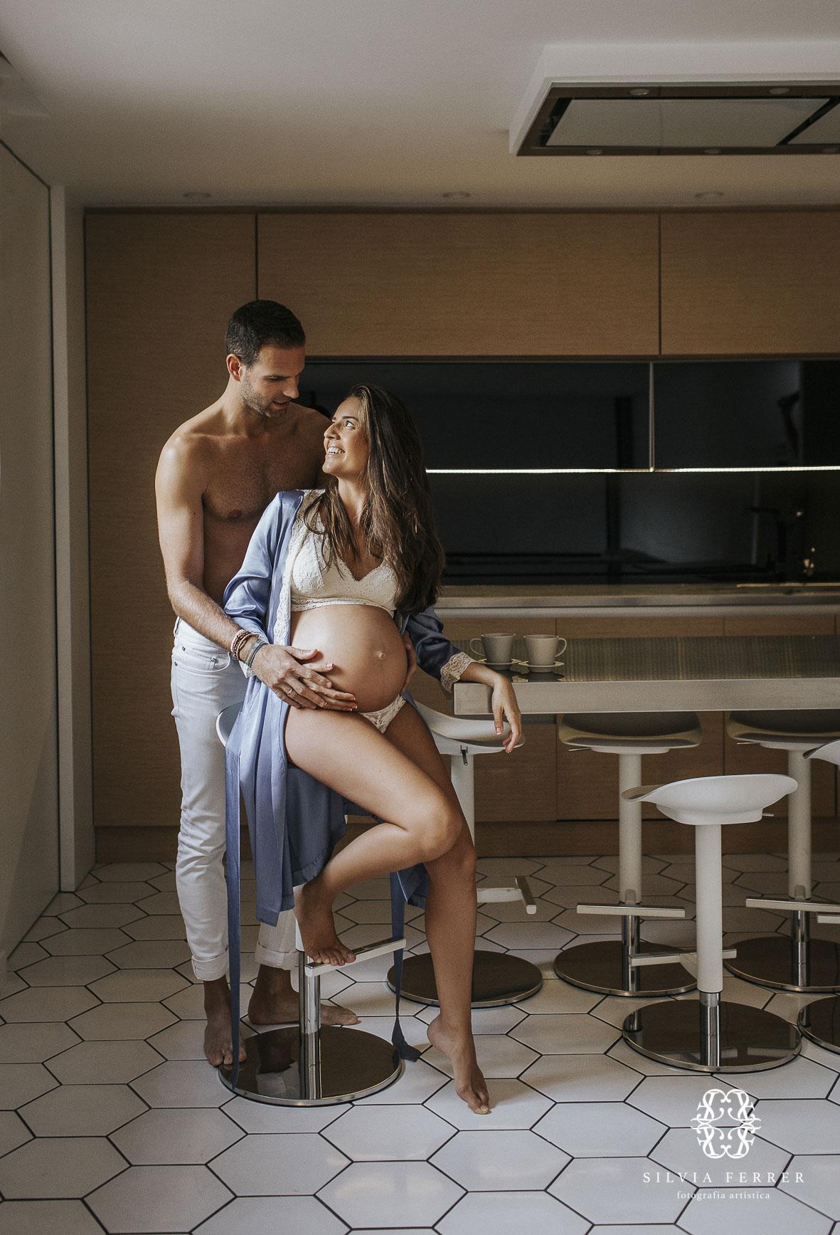 sesion embarazo natural en casa premama