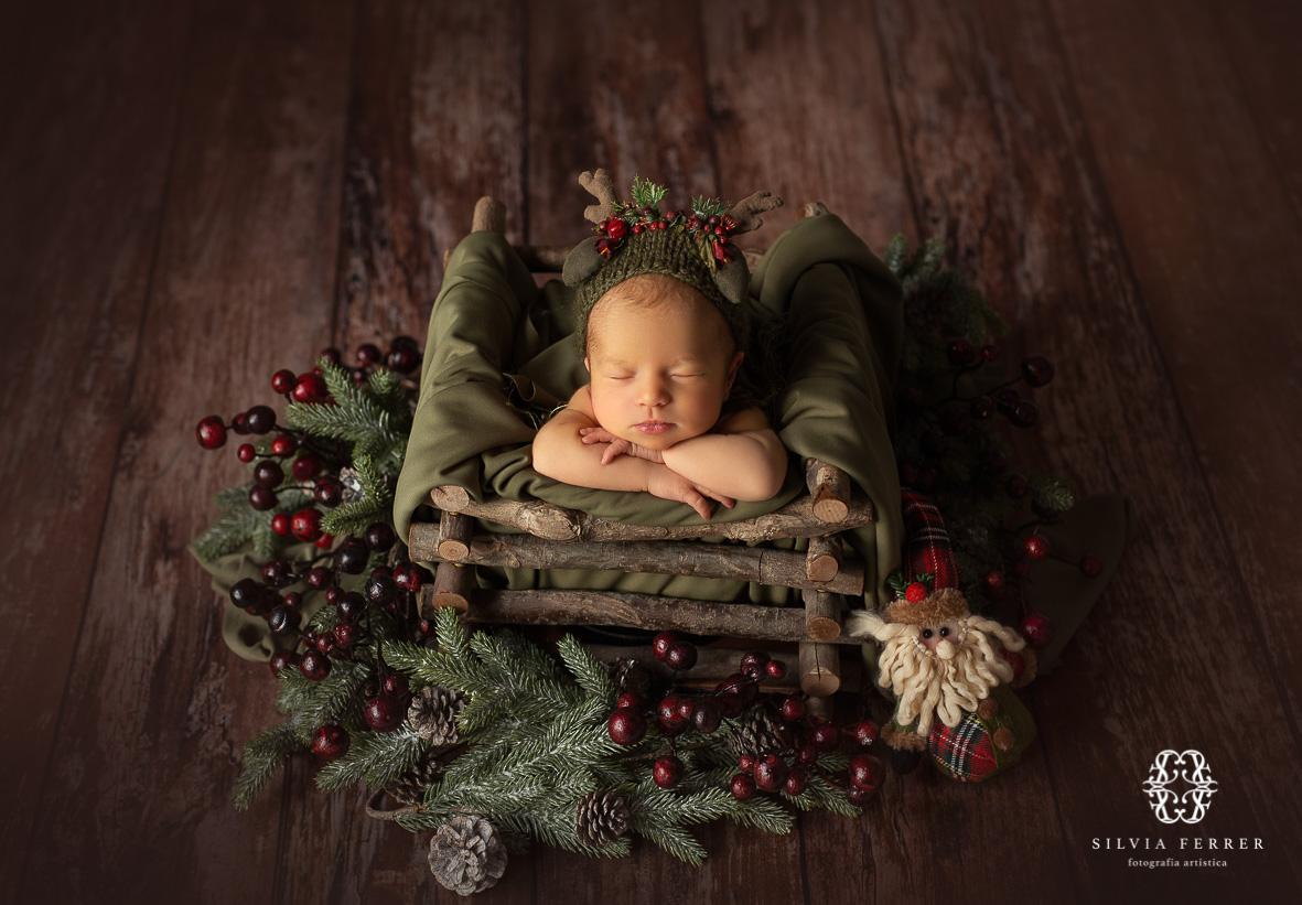 fotos navidad newborn props