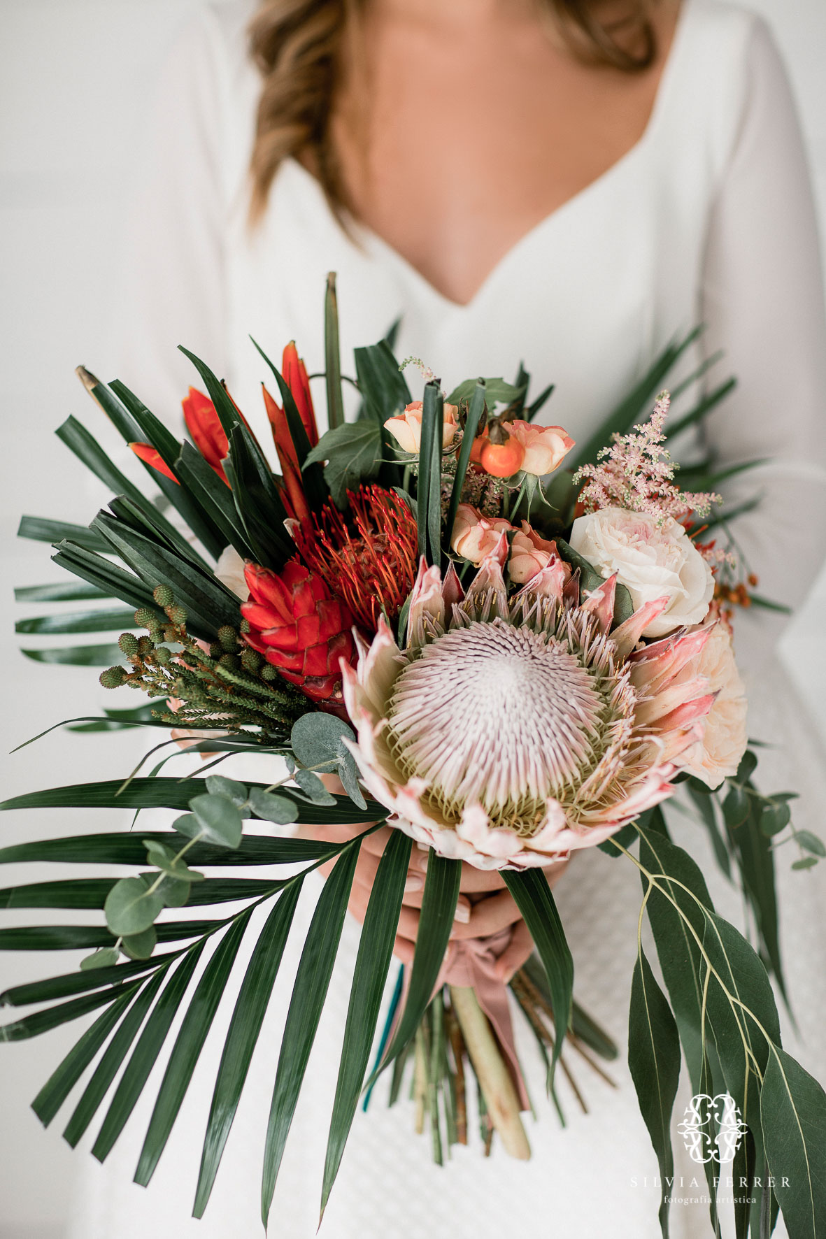 ramo de novia silvestre tropical emy floristas